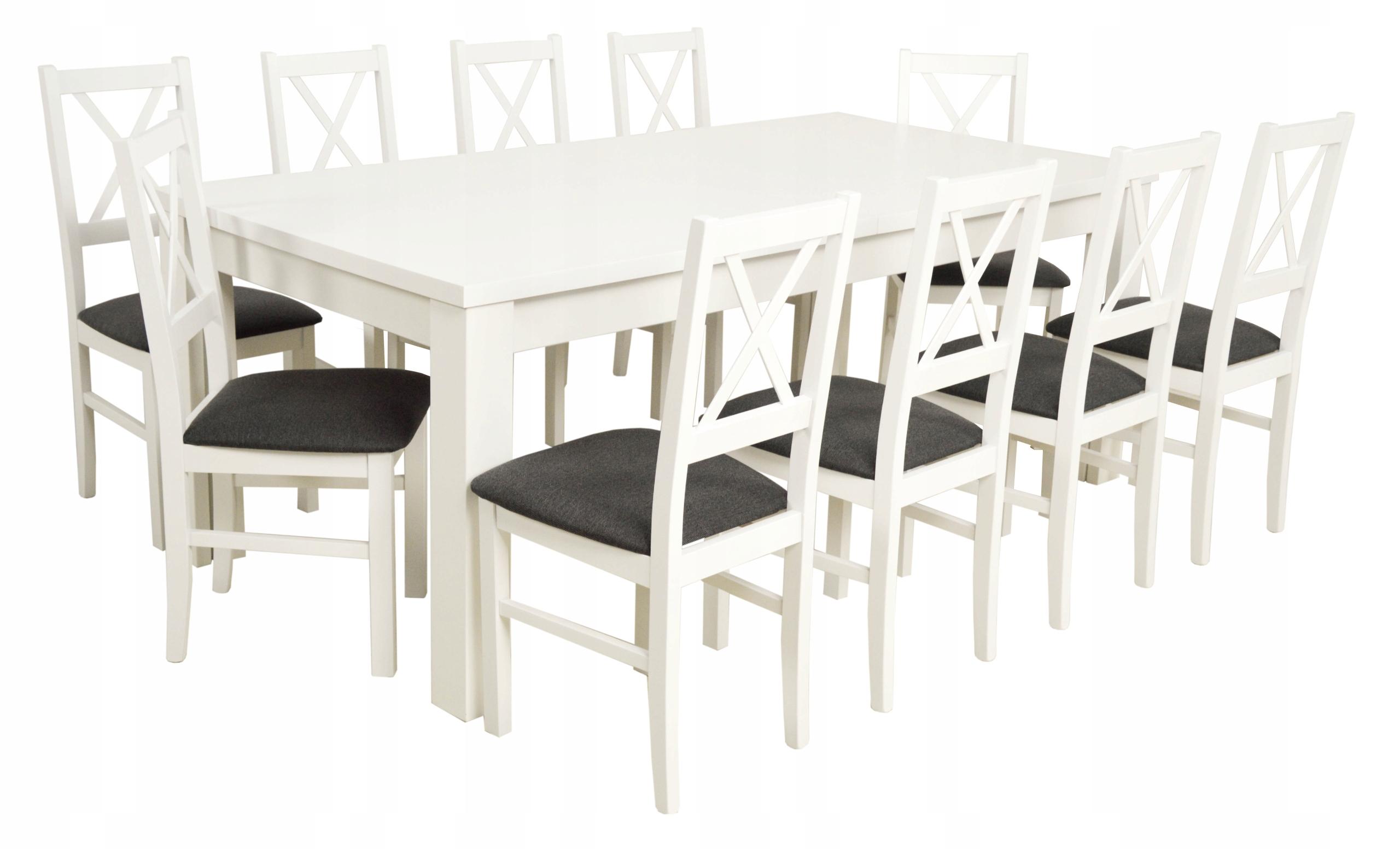 10 stoličky a veľký stôl 100x200/440 cm ZADARMO