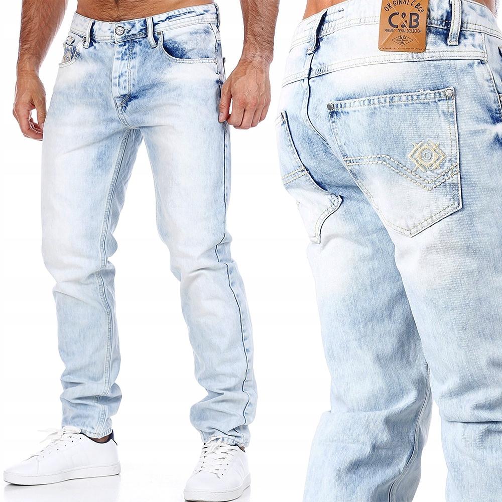 Spodnie Cipo Baxx Jeansy Jasne Przecierane IceBlue