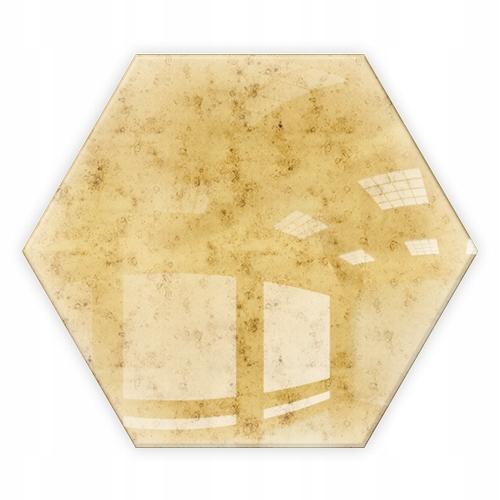 Lustro Złota Dekoracyjne Heksagon Samoprzylepne