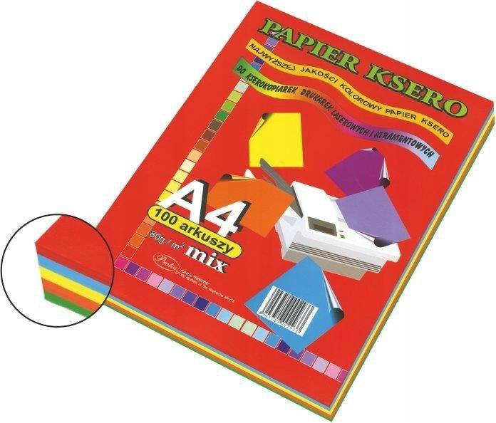 Kolorowy papier xero do drukarki A4 mix kolorów