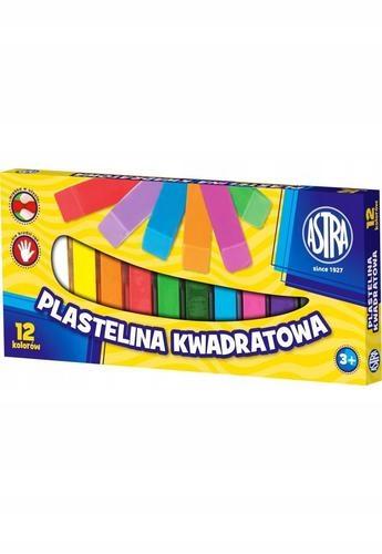 Купить Пластилин квадратная, 12 цветов. Astra на Otpravka - цены и фото - доставка из Польши и стран Европы в Украину.