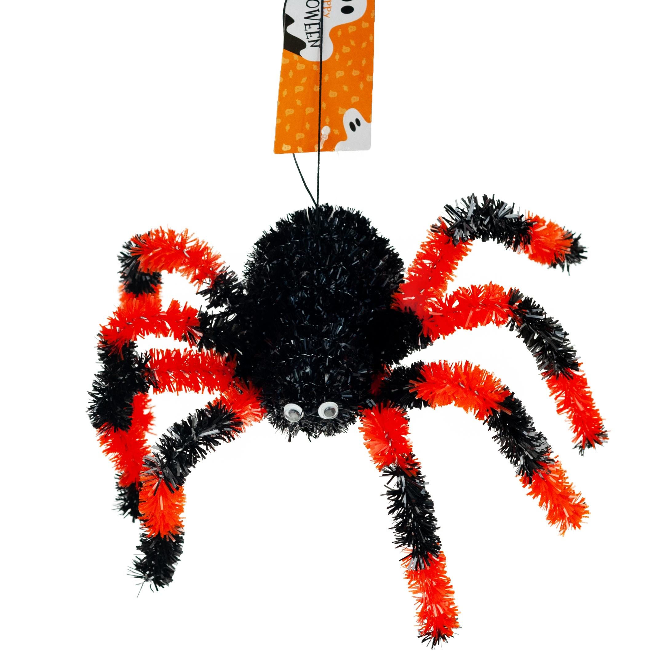 HALLOWEEN SPIDER страшный декор черный и оранжевый