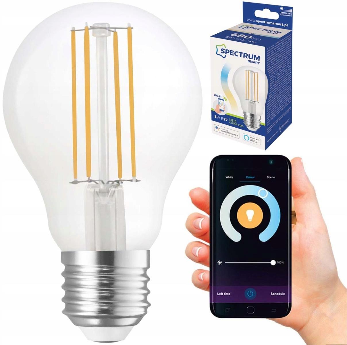 LED WiFi E27 5W CCT Smart TUYA BULB stmievateľné