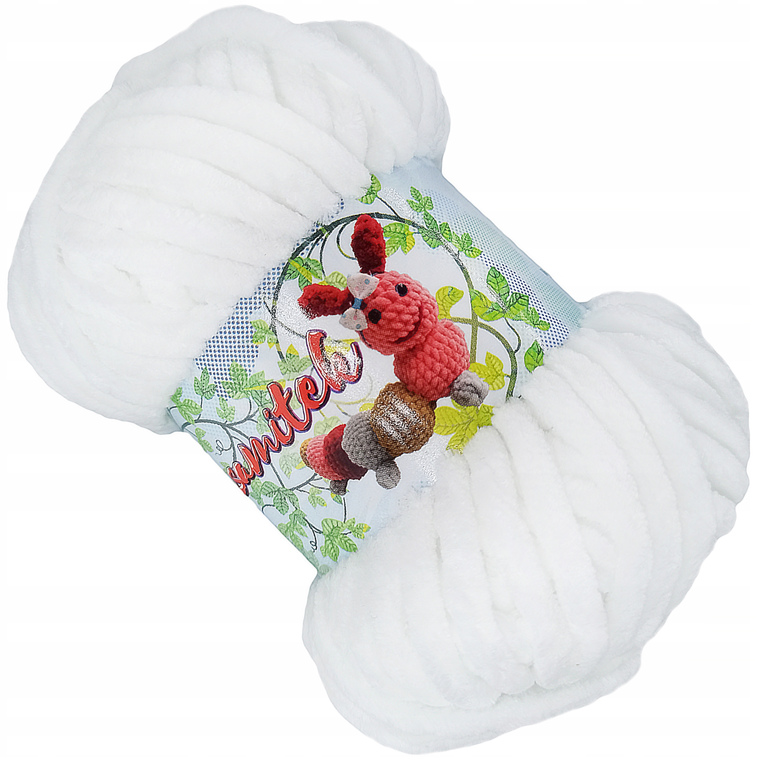 Бархатная пряжа Opus Plush Soft WHITE 150