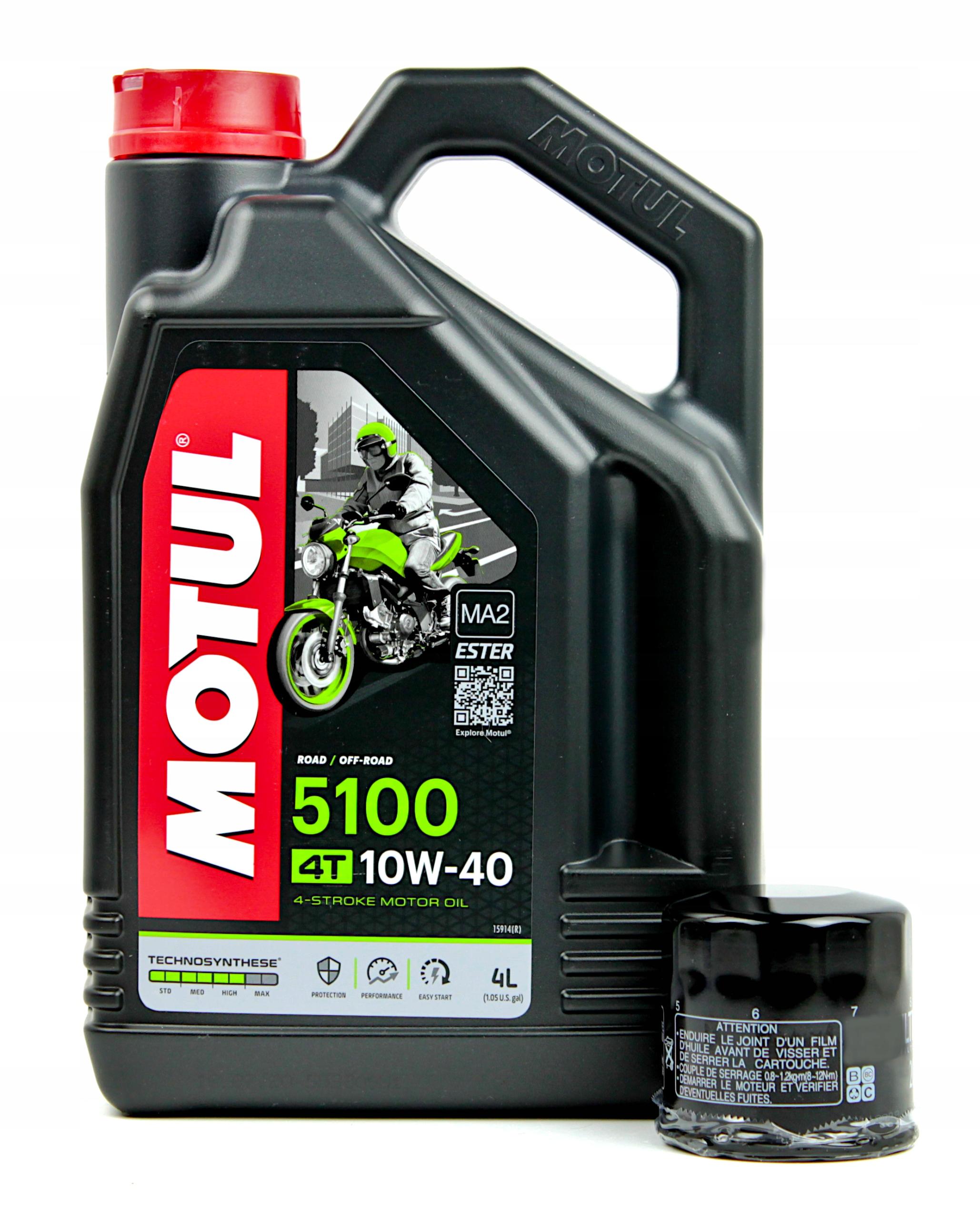 MOTUL 5100 10W40 4L моторное масло + масляный фильтр