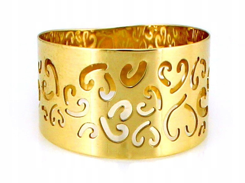 Prsteň RETRO CUTOUT R.16 Gold 585 14cT