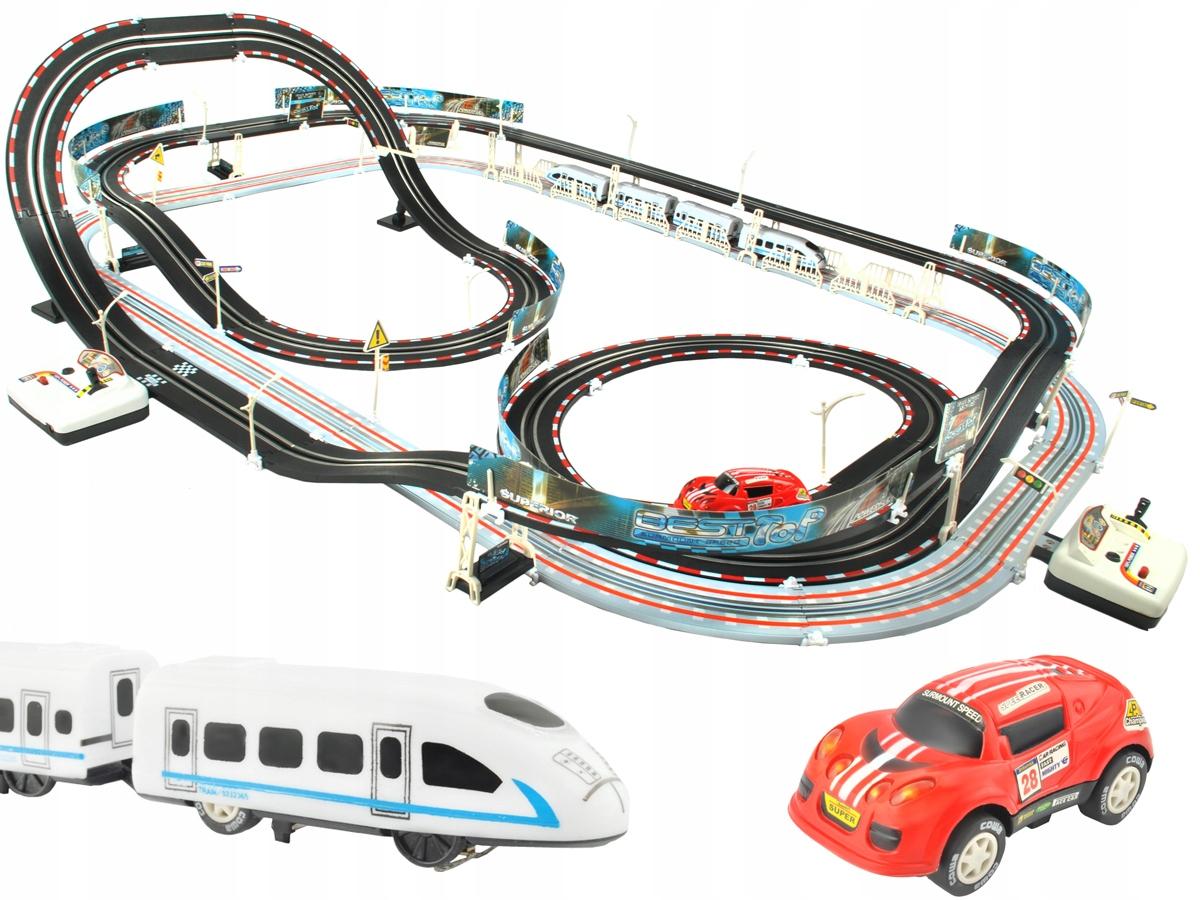 Ogromny Tor Wyścigowy Kolejka Elektryczna Auto 630