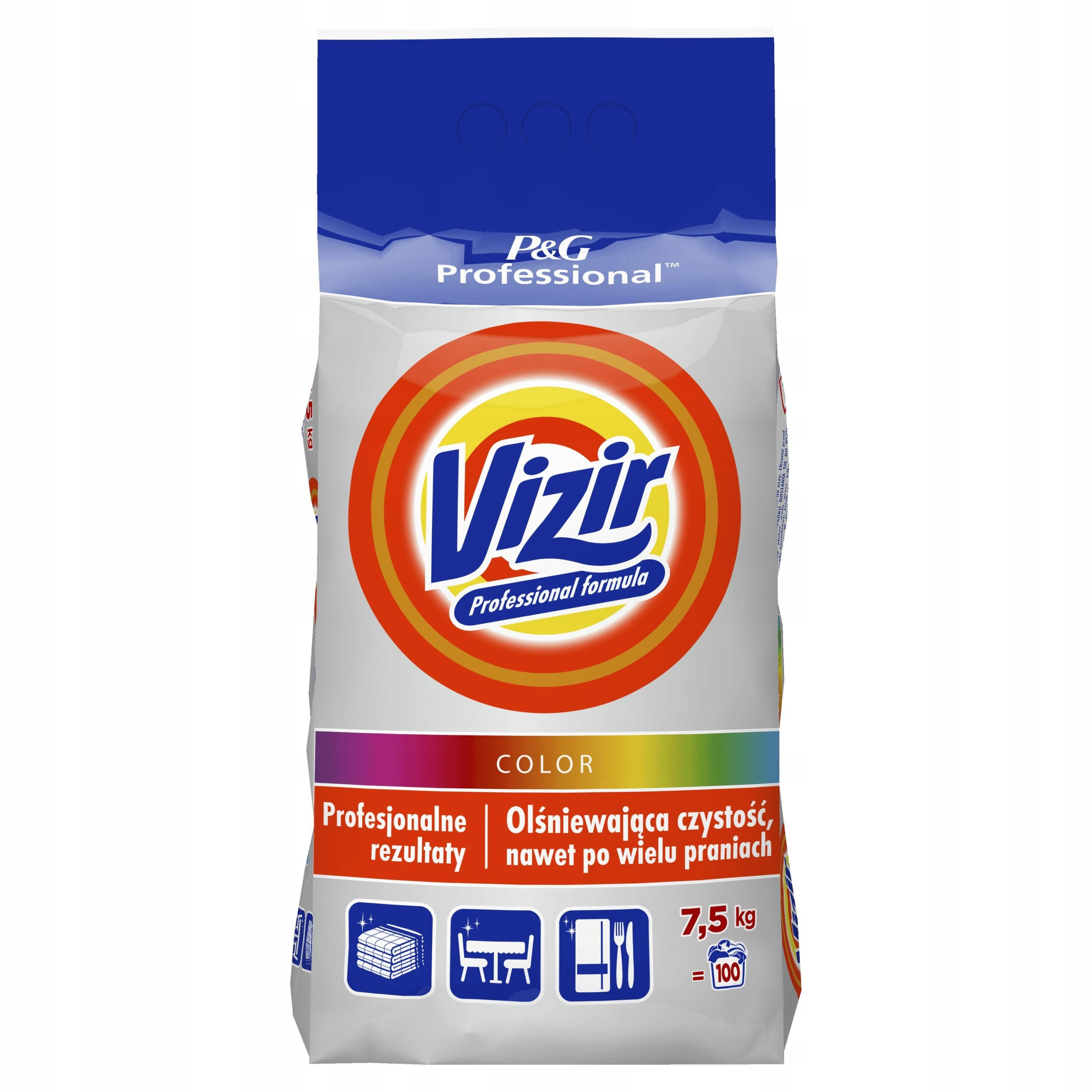 WASHING POWDER VIZIR COLOR 7,5 кг Профессиональный