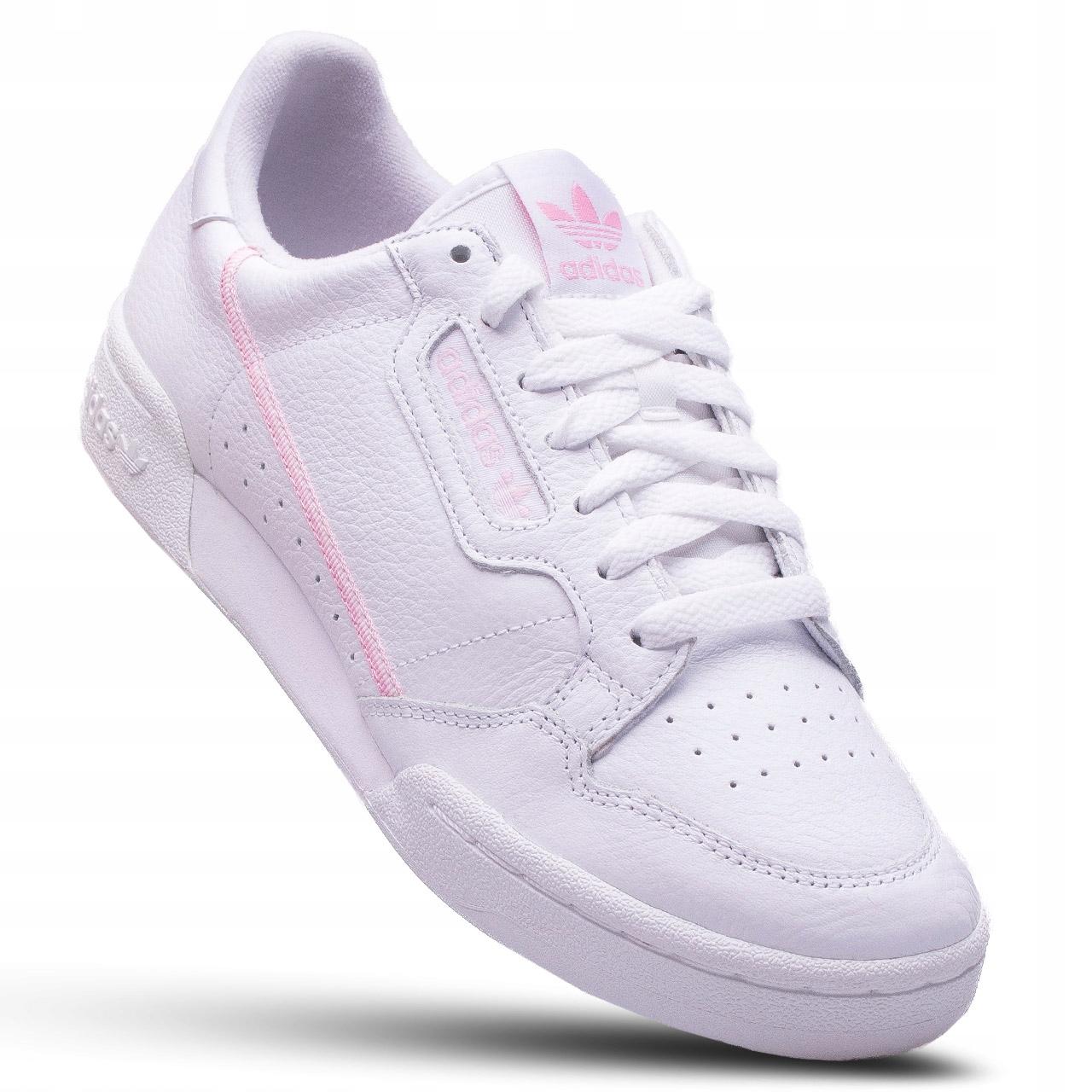 adidas DAMSKIE BUTY CONTINENTAL 80 białe skórzane 8232534157