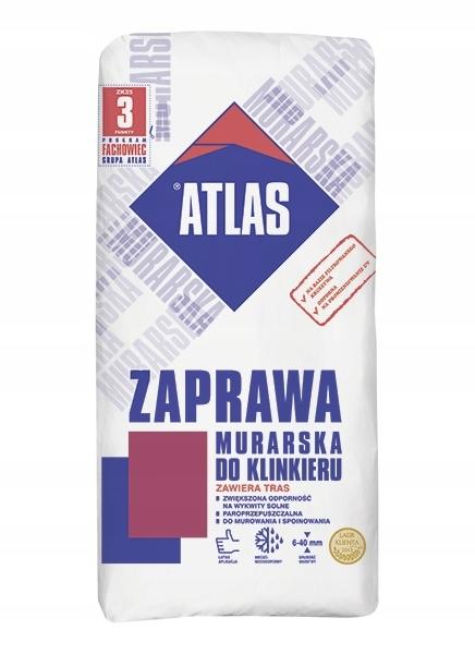 ATLAS ZAPRAWA MURARSKA DO KLINKIERU GRAFITOWA 25KG