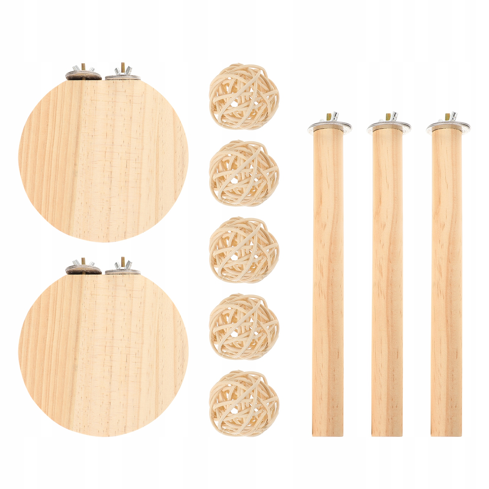 1 комплект белок на деревянных подиумах