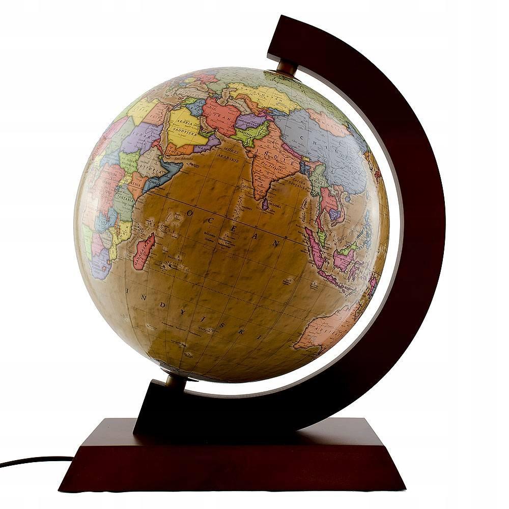 Retro 32 cm osvetlený politický glóbus