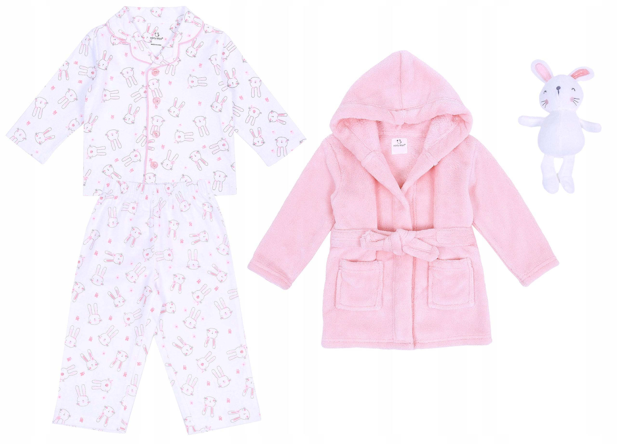 Ružová súprava: Župan+pyžamo+talizman 18-24 m 92