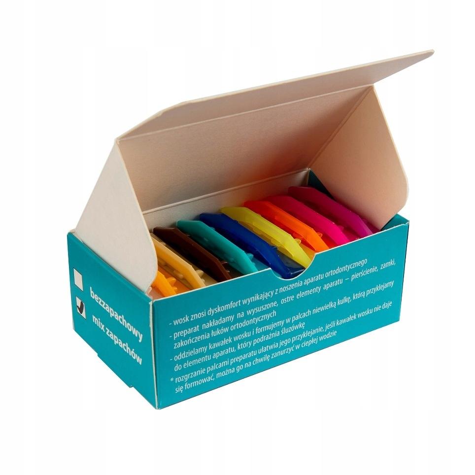 Ортодонтический ароматический воск 10 упаковок по 5 шт.