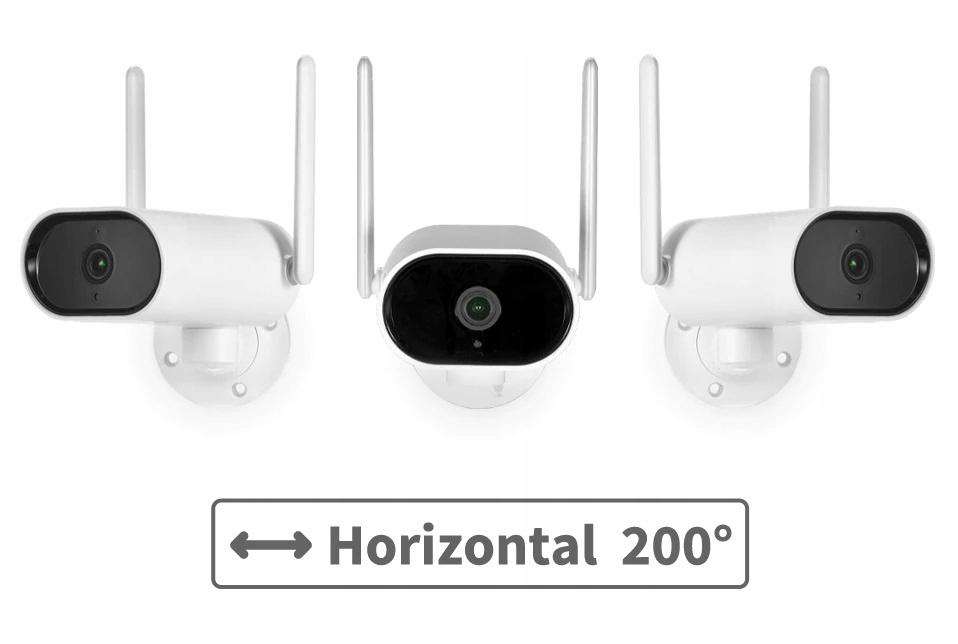 Zestaw Monitoringu 6 Kamer Zewnętrznych obrotowych Model WIFI2020
