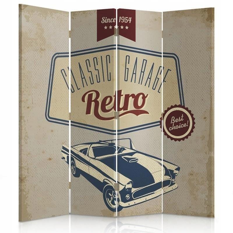 Obrazovka miestnosti 145x180 Klasická garážová retro