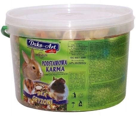 Karma podstawowa Gryzoń Dako-Art wiaderko 5 l