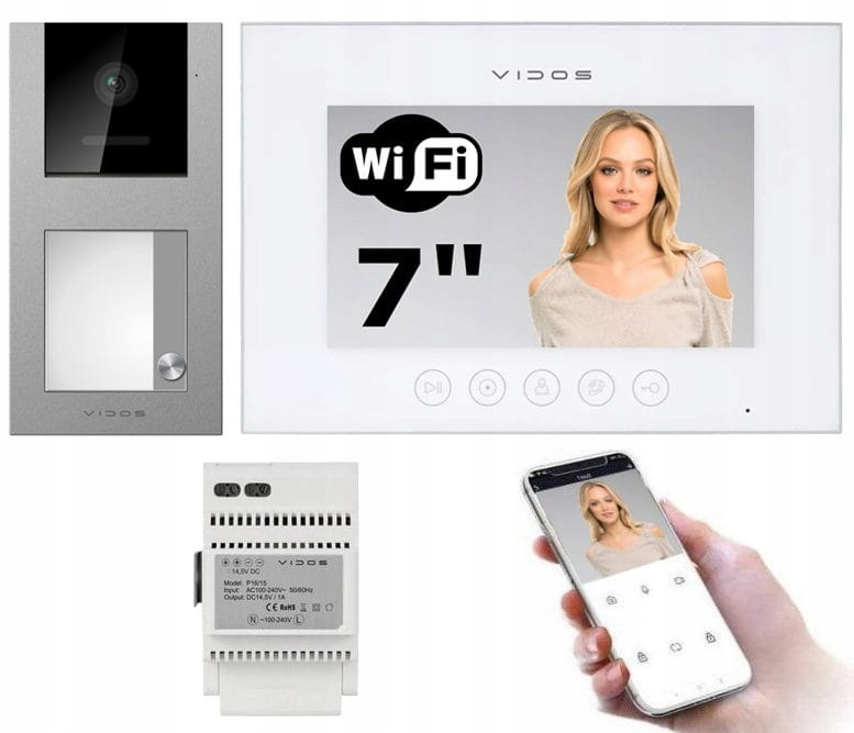 Wideodomofon IP Vidos WiFi M11W-X S11 Czytnik