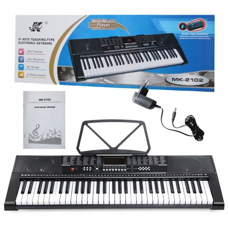 Item Largest Organ Piano Keyboard for Learning, 61-key