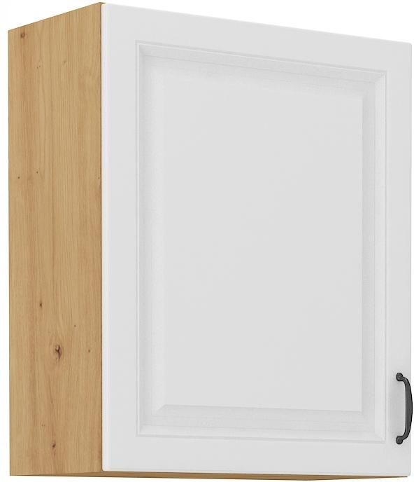 Horná kuchynská skrinka 60 cm remeselník + biela RETRO