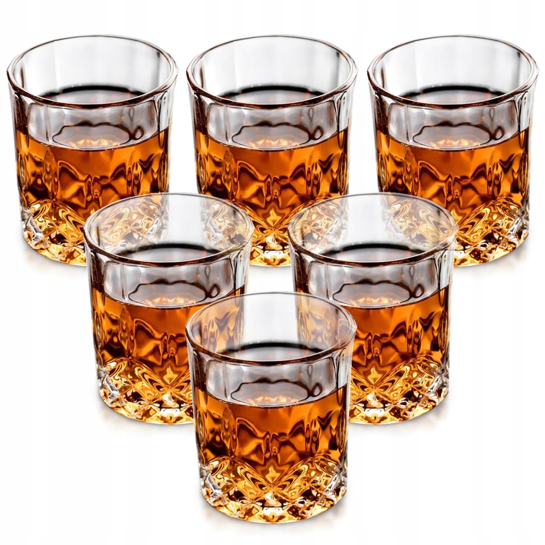 ZESTAW 6 szt Szklanki do whisky drinków 250ml SZK2