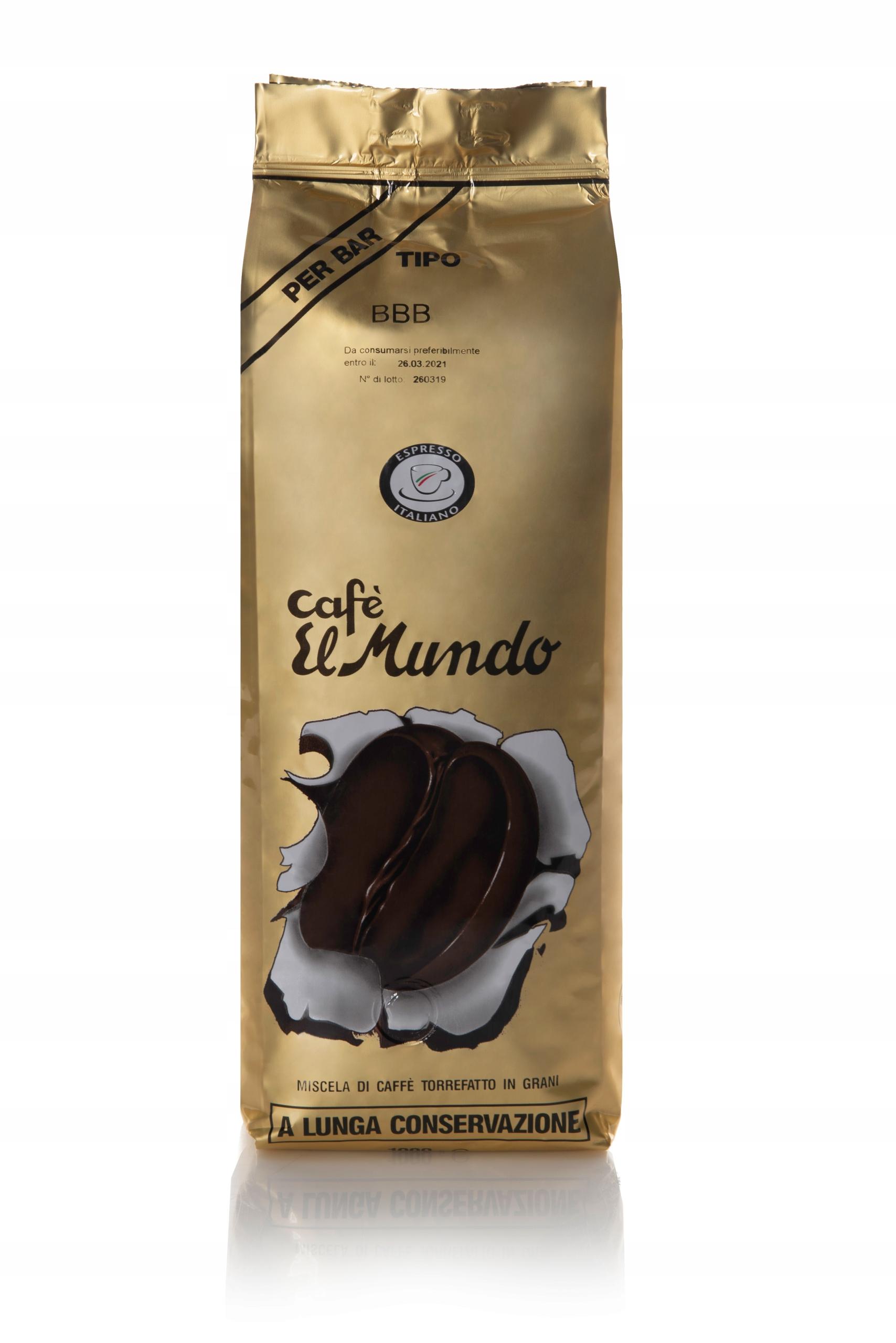 Coffee bean typ BBB Oro 1 kg Kaviareň El Mundo