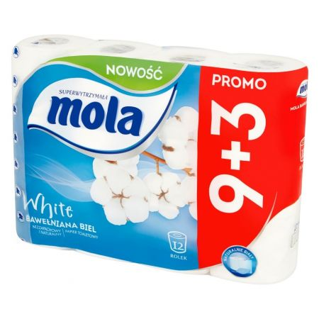 Mola туалетная Бумага Classic White 12 рулонов