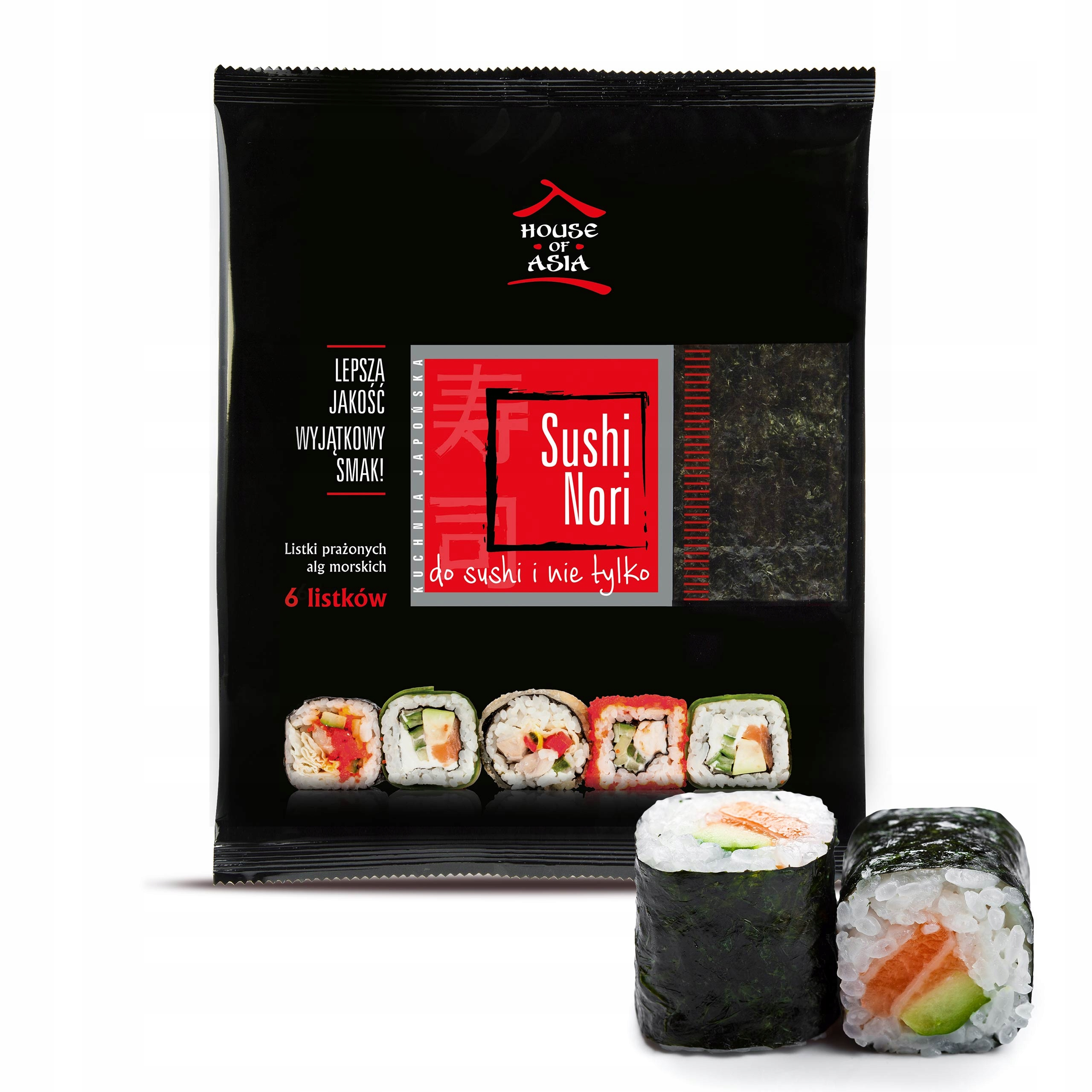 Sushi Nori Liście alg morskich 6 sztuk 15 g
