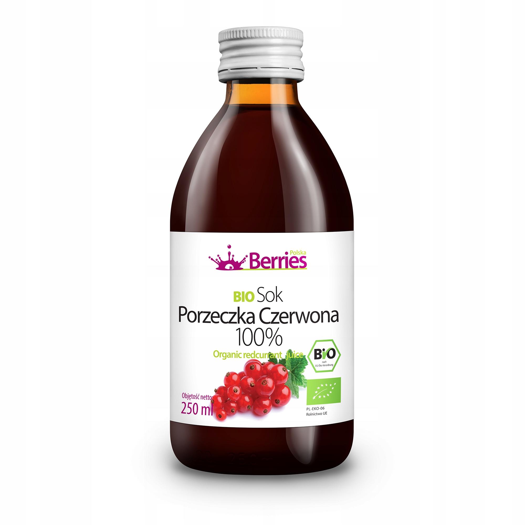 BIO Porzeczka Czerwona 100% sok ekologiczny 250 ml