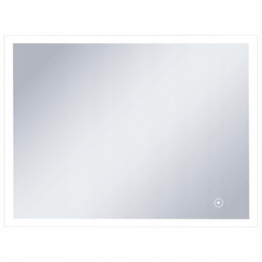 Kúpeľňové zrkadlo s LED a senzorom 80x60 cm