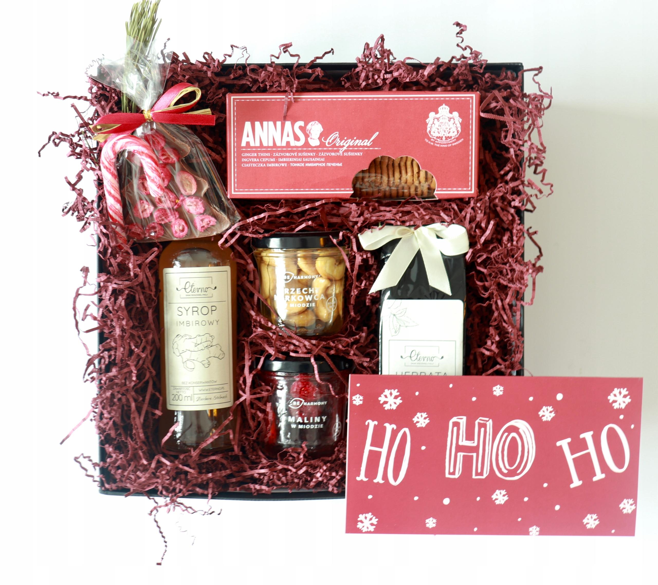 Рождественский подарок подарочная корзина коробка медового чая