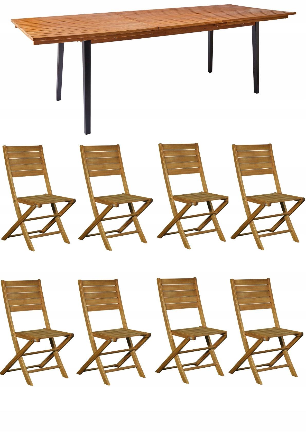 Беседка, комплект из 8 стульев ЛАГОС