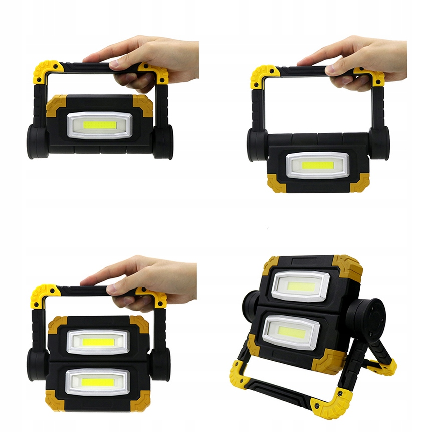 Funkcjonalna LAMPA ROBOCZA LED AKUMULATOROWA Temperatura barwowa 6000 K