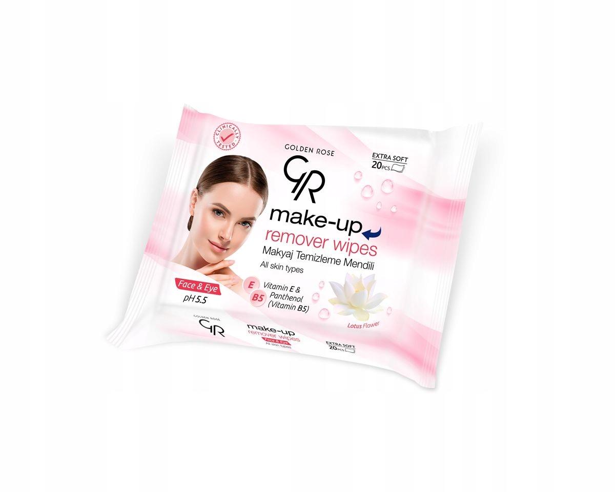 Golden Rose салфетки для снятия макияжа 20 шт
