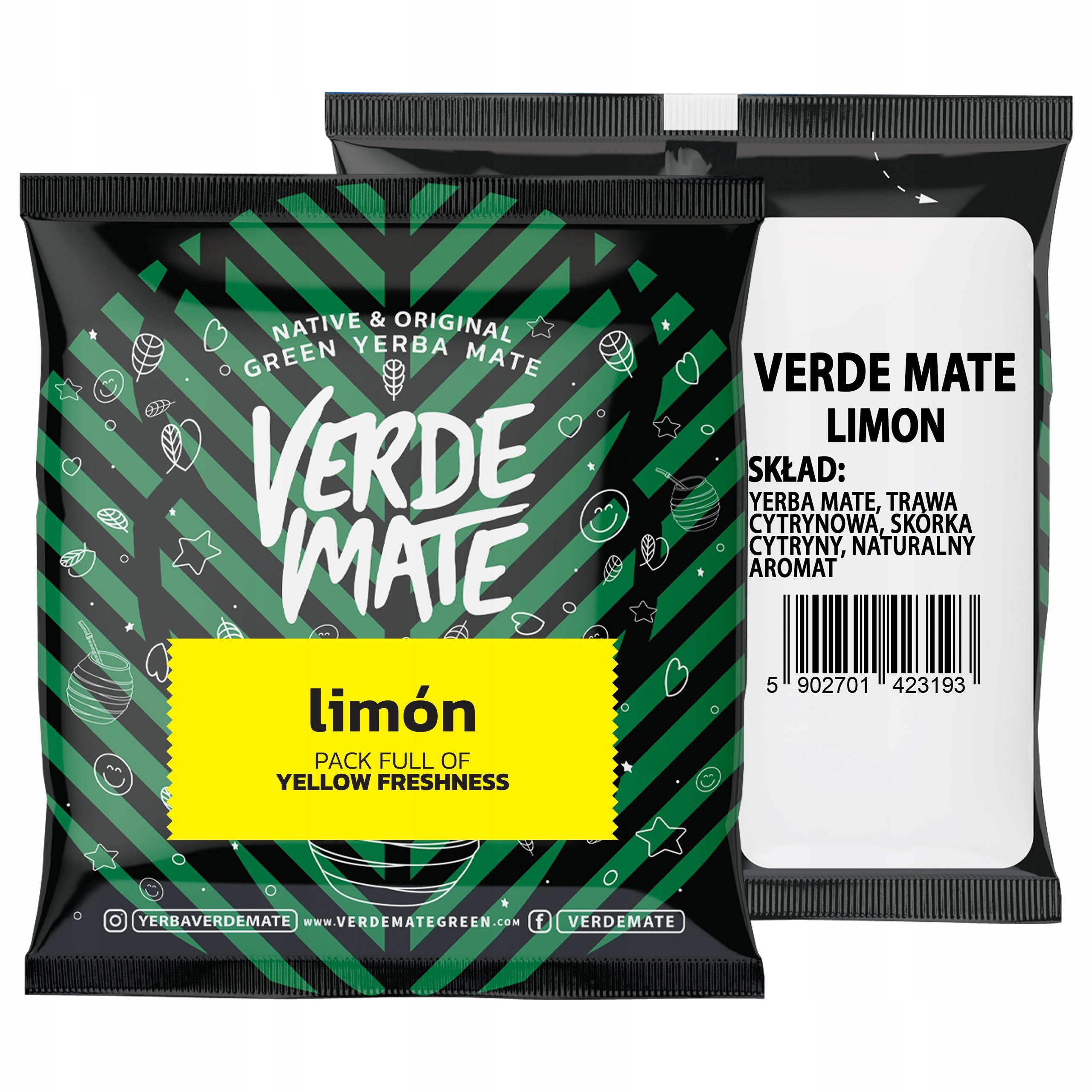 Yerba Verde Mate Green Limon 50g próbka