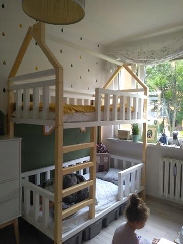 Зося двухъярусная кровать детская 80х160 + камин