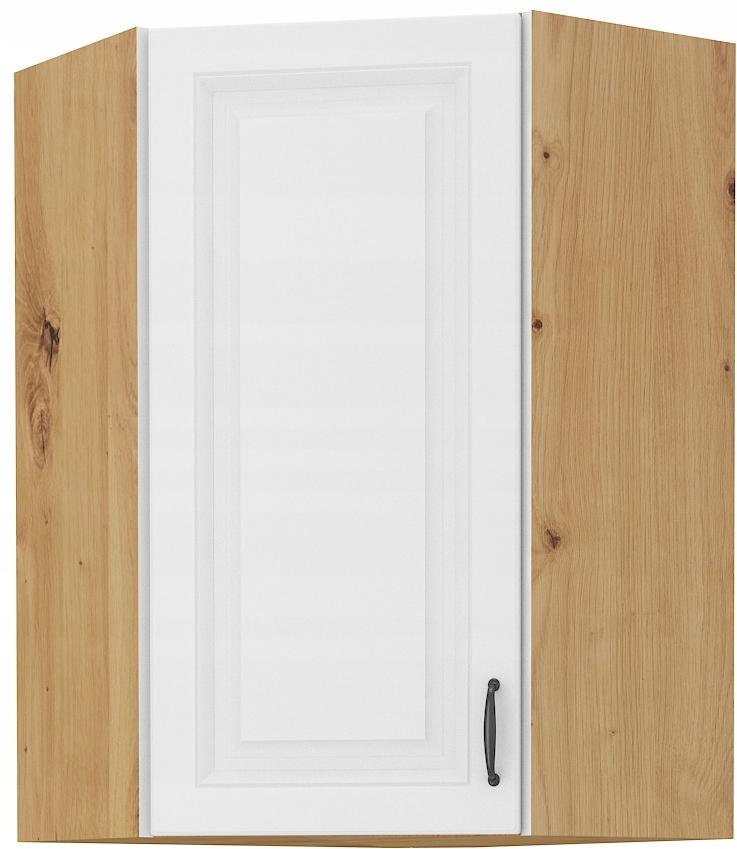 rohová kuchynská skrinka 58 cm remeselník + biela RETRO