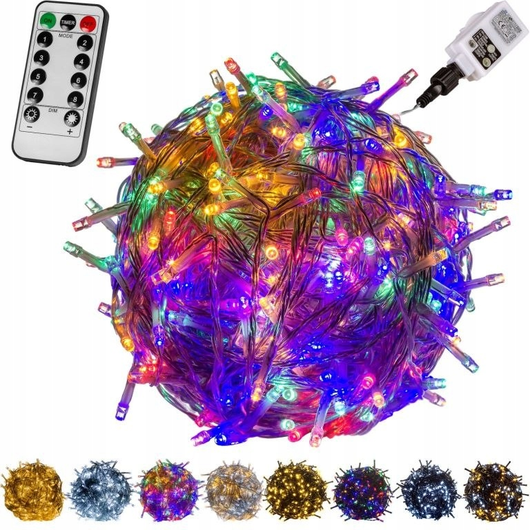 LED osvetlenie - 40 m, farebné 400 LED + diaľkové ovládanie