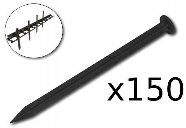 Obrzeże ogrodowe 45mm 50m + KOTWY 150szt Długość 5000 cm