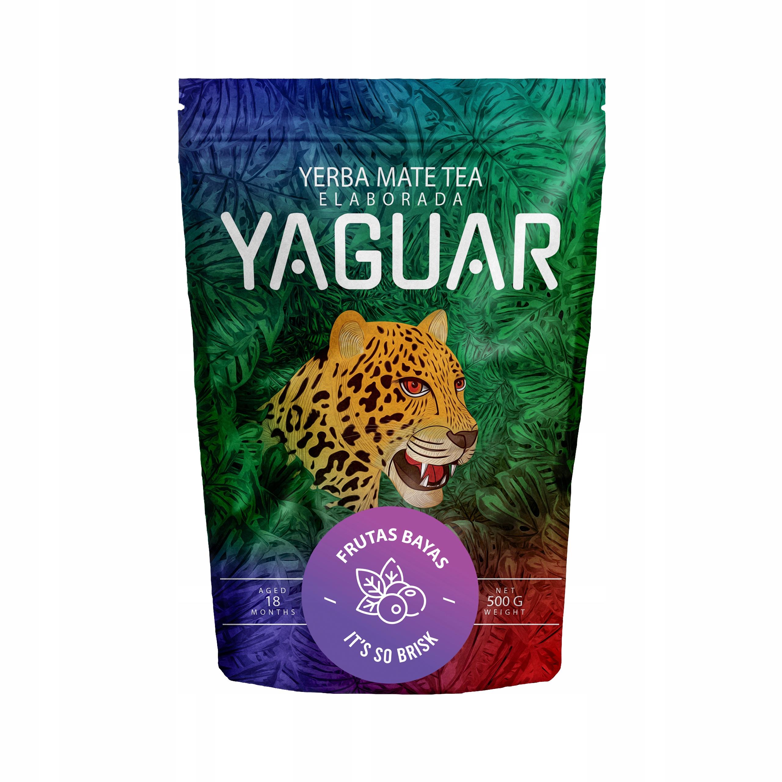 Yerba Mate Yaguar Frutas Bayas owocowa 0,5kg 500g