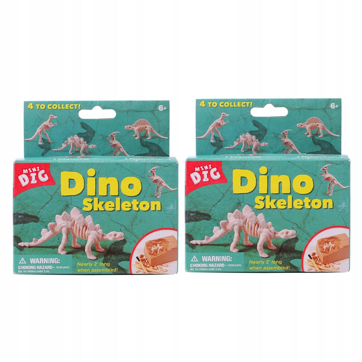 2 набора из четырех небольших раскопок динозавров