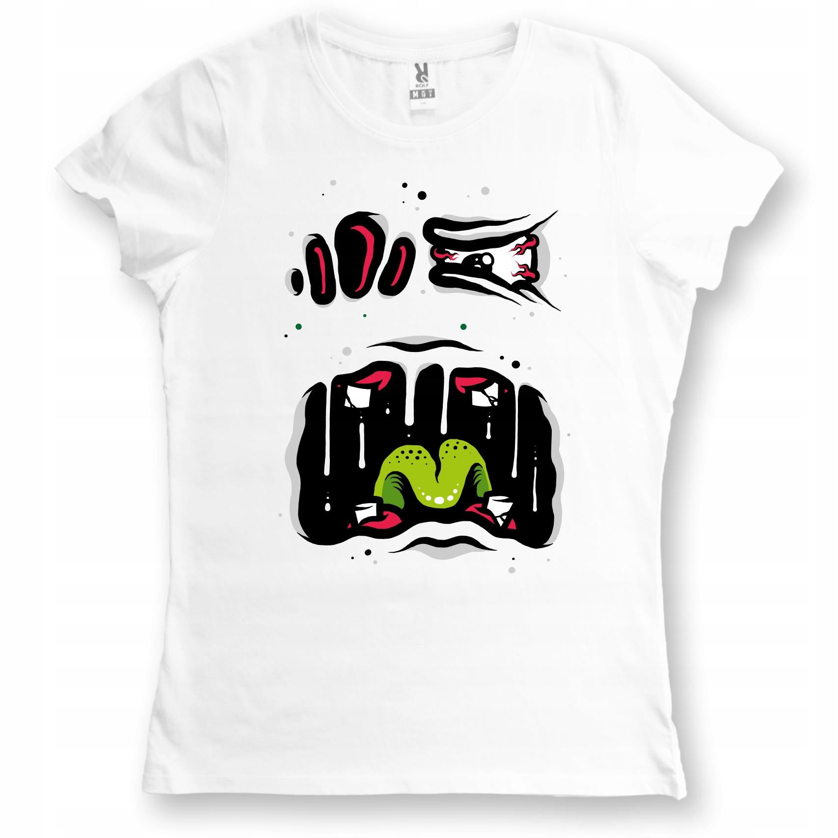 Koszulka damska Scary Face Emotikon Graffiti L