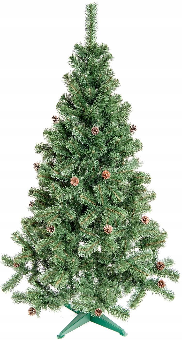 KRÁSNY Hustý vianočný stromček s PIN 160 cm + stojan