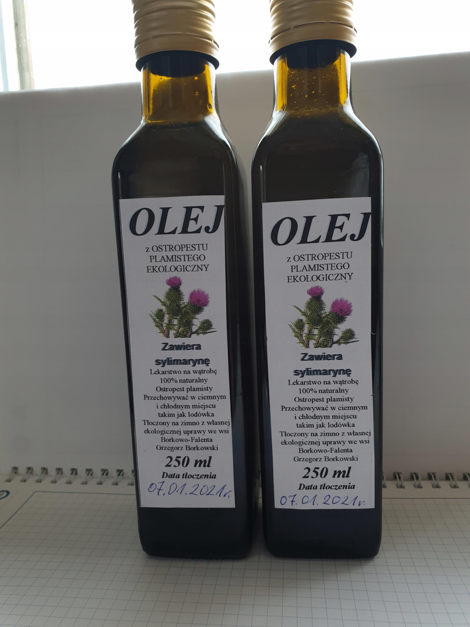 Olej z ostropestu EKO 250 ml rolnik