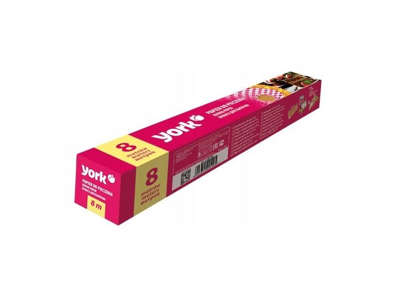 Выпечка бумаги рулон YORK 8m силиконовая коробка