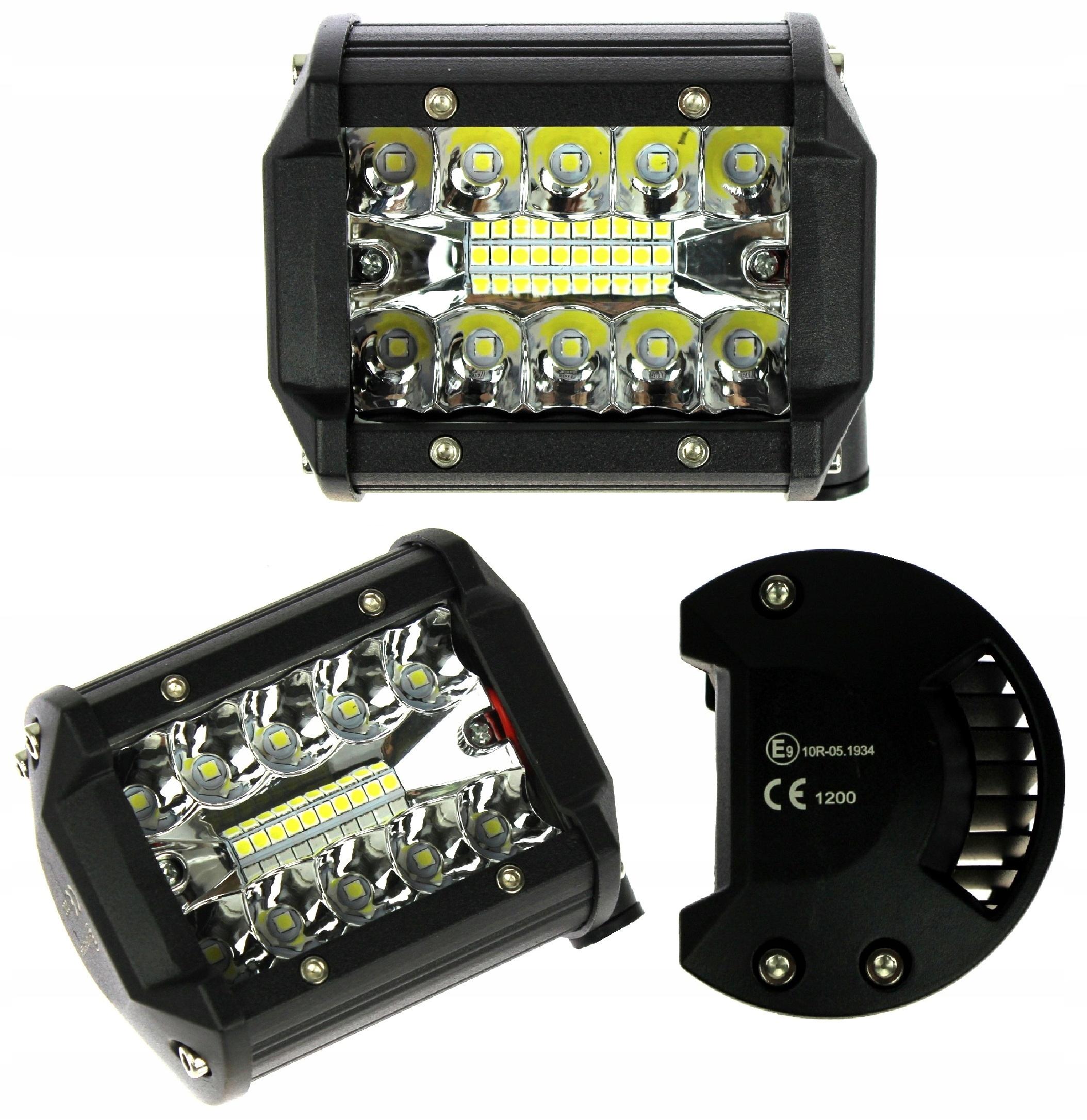 лампа рабочая 20 led панель 60w cree 12v 24v комбо