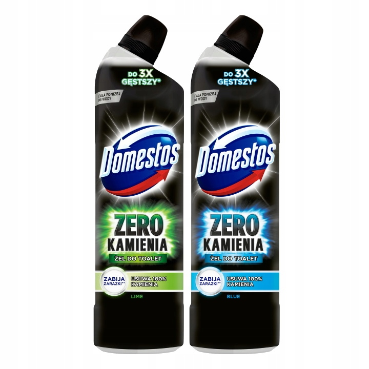 Domestos Zero Żel do Toalety MIX 2x750ml