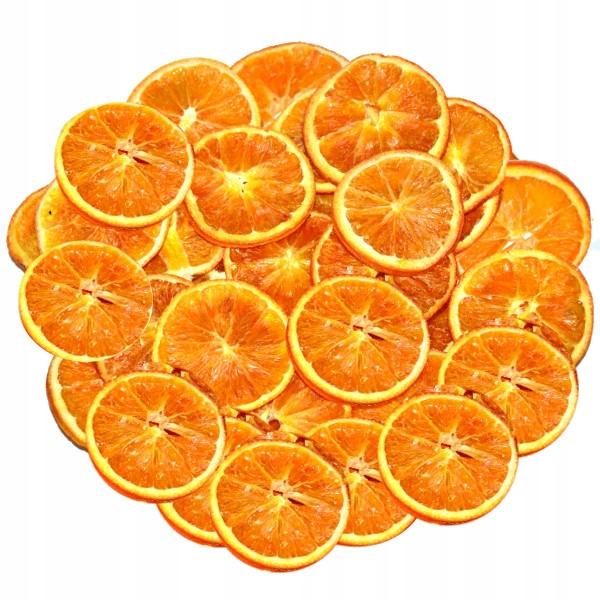 Сушеные апельсины дольками 120 г примерно 3,5-6 см.