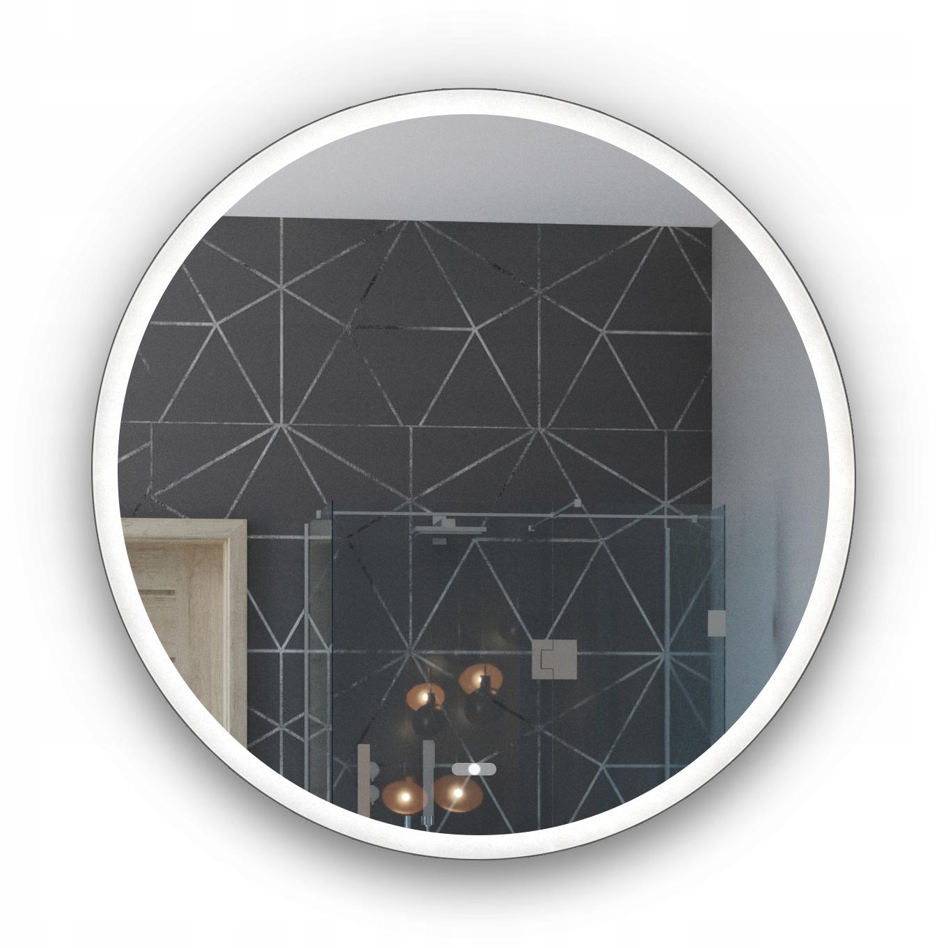 Kúpeľňové LED osvetlené zrkadlo Touch 55x55 L76