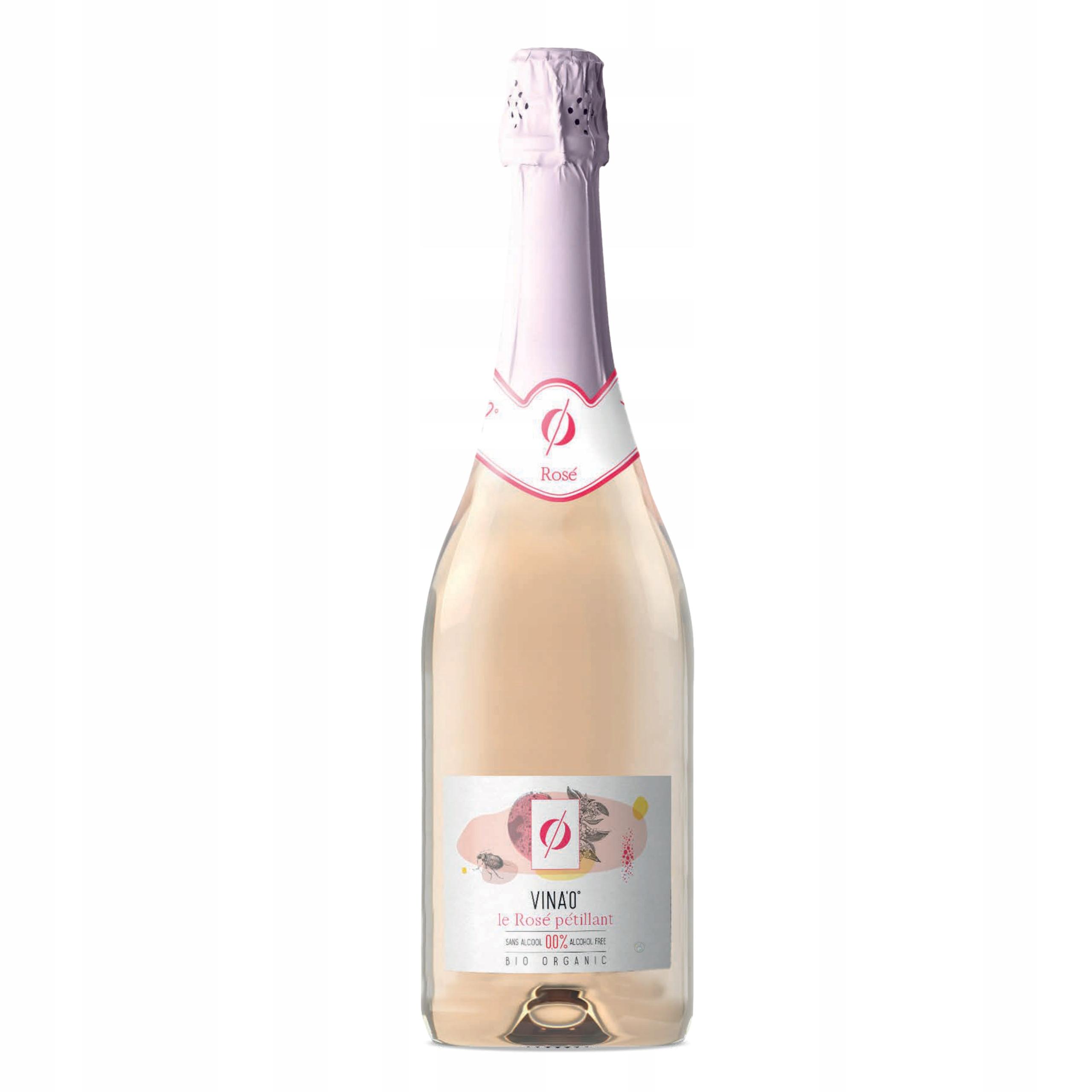 Вино безалкогольное VINA'0 ° Le Rose BIO игристое